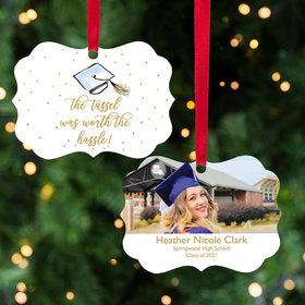 Personalized 'Tassle Was Worth the Hassle' Graduation Christmas Ornament