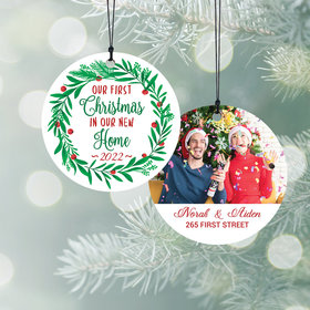 Personalized 1st Christmas in Our New Home Christmas Ornament