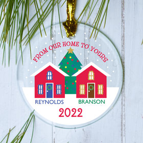 Personalized Family Home Christmas Ornament