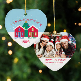 Personalized From Our Home to Yours Christmas Ornament