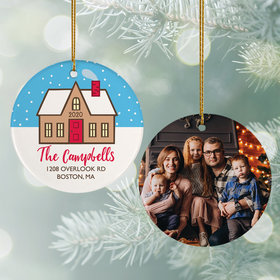 Personalized Family Home Christmas Photo Christmas Ornament