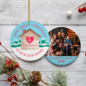 Personalized First Christmas in Our New Home Photo Christmas Ornament