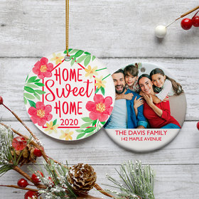 Personalized Home Sweet Home Christmas Ornament