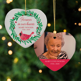 Personalized Forever in Our Hearts Christmas Ornament