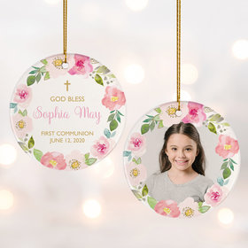 Personalized First Communion Photo Christmas Ornament