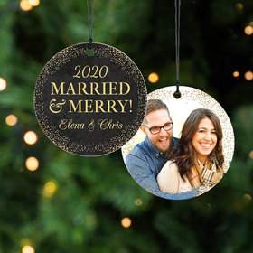 Personalized Bonnie Marcus Wedding Christmas Ornament