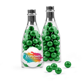 Personalized Business Add Your Logo Favor Assembled Champagne Bottle with Sixlets