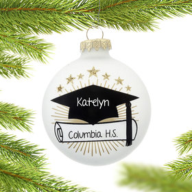 Personalized Graduation Cap Christmas Ornament