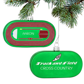Personalized Track and Field Christmas Ornament