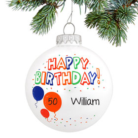 Personalized Happy Birthday Christmas Ornament