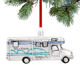 Personalized Class C Motor Home Christmas Ornament