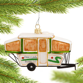 Personalized Popup Camper Christmas Ornament