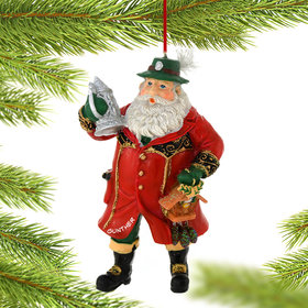 Personalized German Santa with Beer Stein Christmas Ornament