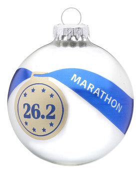 Personalized Marathon Christmas Ornament