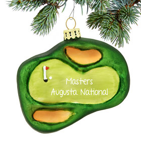 Personalized Golf Green Christmas Ornament