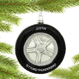 Personalized Tire Christmas Ornament