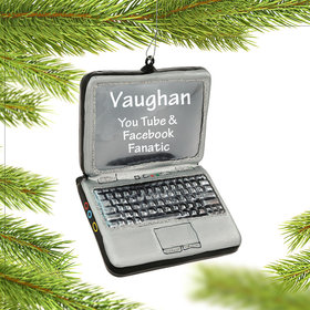 Personalized Laptop Computer Christmas Ornament