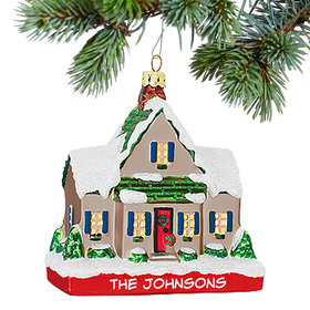 Personalized House Christmas Ornament