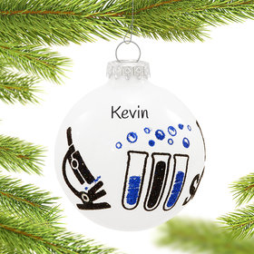 Personalized Science Christmas Ornament