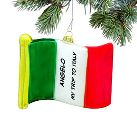Personalized Flag of Italy Christmas Ornament