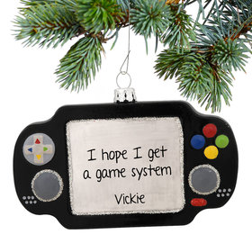 Personalized Hand Held Video Game Christmas Ornament