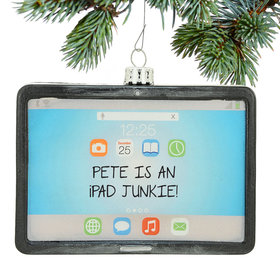 Personalized iPad Tablet Computer Christmas Ornament