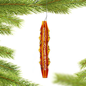 Personalized Strip of Bacon Christmas Ornament