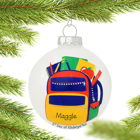 Personalized Backpack Christmas Ornament