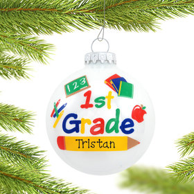 Personalized First Grade Christmas Ornament
