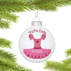 Personalized TuTu Cute Christmas Ornament