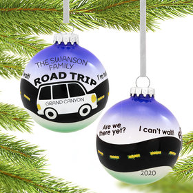 Personalized Road Trip Christmas Ornament