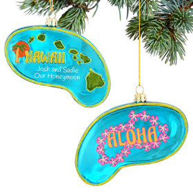 Personalized Hawaii Christmas Ornament