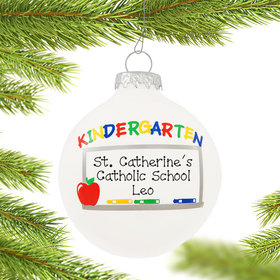 Personalized Kindergarten Chalkboard Christmas Ornament