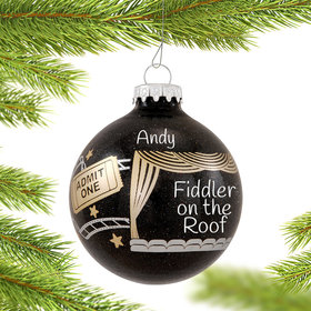 Personalized Movie Lover, Stage Actor, Cinema Buff Christmas Ornament
