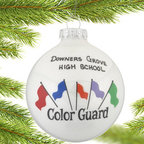 Color Guard Flags Christmas Ornament