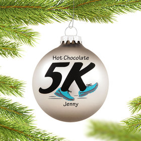 Personalized 5K Runner Christmas Ornament