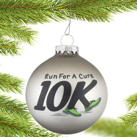 10K Runner Christmas Ornament