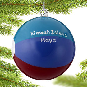 Personalized Beach Ball Christmas Ornament