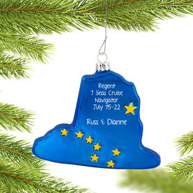 Personalized Alaska State Shape Christmas Ornament