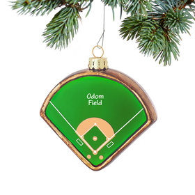 Personalized Baseball Diamond Christmas Ornament