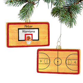 Personalized Basketball Court Christmas Ornament