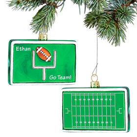 Personalized Football Gridiron Christmas Ornament