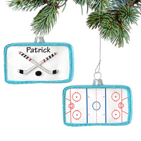 Personalized Hockey Rink Christmas Ornament