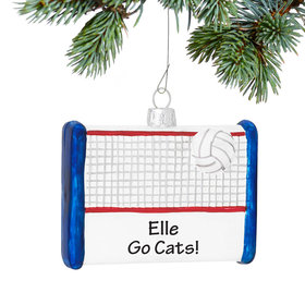 Personalized Volleyball Court Christmas Ornament