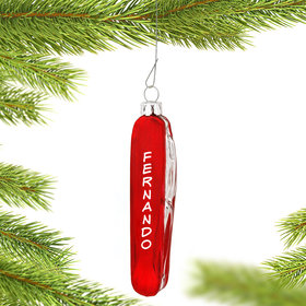 Personalized Pocket Knife Christmas Ornament