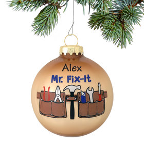 Personalized Mr. Fix It Tool Belt Christmas Ornament