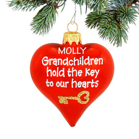 Personalized Grandchildren Hold The Key To Our Hearts Christmas Ornament