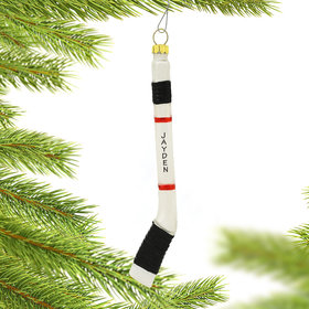 Personalized Hockey Stick Christmas Ornament