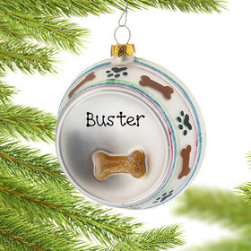 Personalized Dog Dish Christmas Ornament