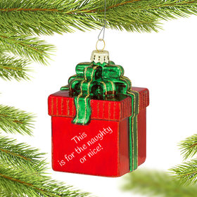 Personalized Red Package Christmas Ornament